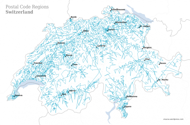 ZIPScribble Map: Switzerland – Part II