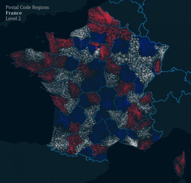 ZIPScribble Map France