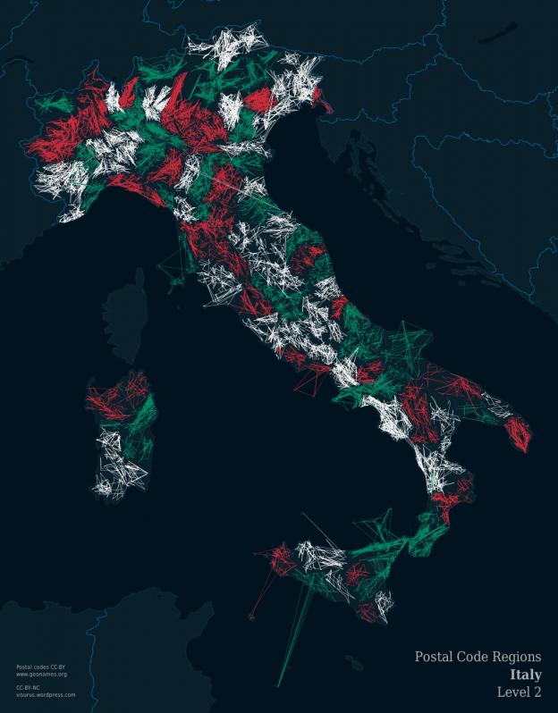 ZIPScribble Map Italy