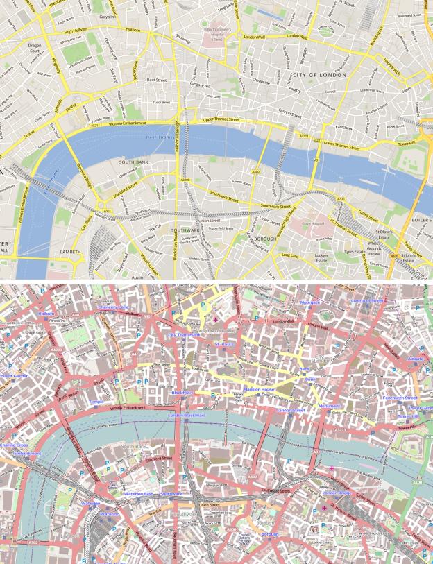 Skobbler's OSM map