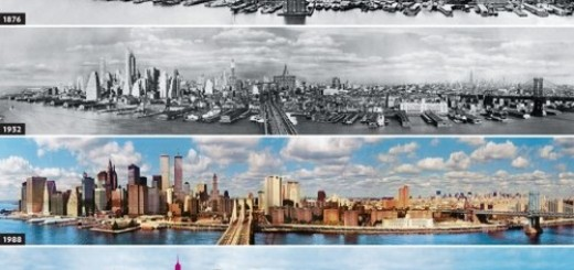 Evolution of New York skyline
