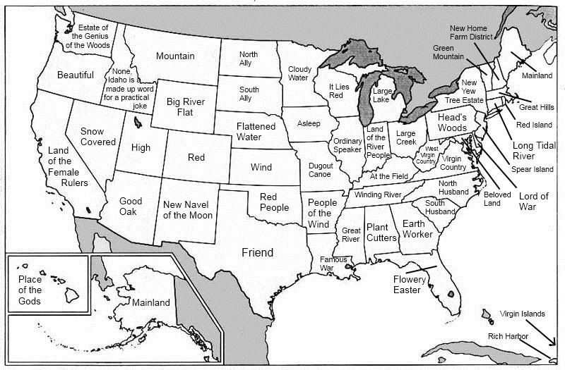 Etymologic cartography