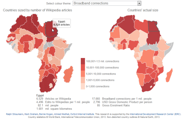 The online perspective: Africa on Wikipedia