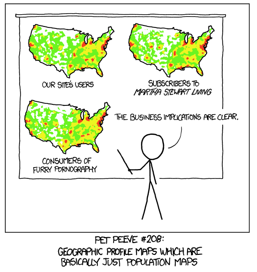 Spatial autocorrelation (source: xkcd)