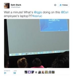 QGIS on an Esri computer